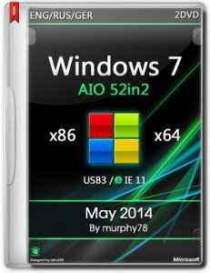 Windows 7 SP1 AIO 52in2 x86/x64 IE11 May 2014 (ENG/RUS/GER)