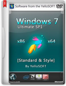 Windows 7 Ultimate SP1 Standard & Style by YelloSOFT (x86/x64/RUS/2014)